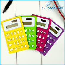 Portable Foldable Silicone Mini 8 Digital Calculator Solar Energy Multi Color Soft keyboard Creative Magnetic adsorption