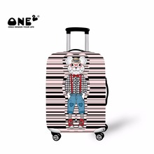 ONE2 2017 New Design luggage cover printing with pink little mouse apply to 18,20,22,24,26,28,30 inches suitcase for cute girls