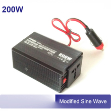 200w power inverter 200watt 50/60hz modified sine wave DC 12V 24V AC 220V 230V inverters modified sine wave(China)