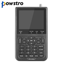 "powstro Digital Signal Satellite Meter WS-6906 3.5"" LCD Screen DVB-S FTA Data Satellite Finder for TV AV"