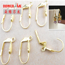 Good Quality 50pcs Semicircle Yellow Gold Plated Flexible Hook Earrings Earwires Woman Jewelry Lever Back Accessories Findings(China)