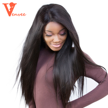 Lace Front Human Hair Wigs Pre Plucked Full Lace Human Hair Wigs Brazilian Straight With Baby Hair 250 Density(China)