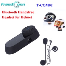 Freedconn T-COM02 Waterproof Motorcycle Handfree Helmet Headset Wireless Bluetooth Headsets Motorcycle Helmet Headphones