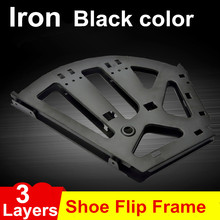 Cabinet hinge three layers shoe turning frame hidden shoe rack shoe iron flap hinge all metal parts shoe flip frame