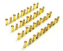 Best quality 20 pairs/Lot TB35 3.5mm Gold Bullet Banana Connector plug 3.5 mm Thick Gold Plated For ESC Battery