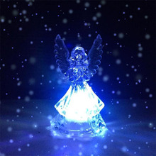 7 Changing Colors LED Night Light Angel Shaped LED Light Party Decoration Lamp Nightlight Great Gift For Kids Bedroom Lamp(China)