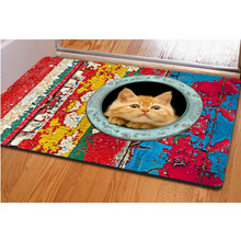 2017 Modern Style Lovely Painting Dog Print Carpets Anti-slip Floor Mat Outdoor Rugs Animal Front Door Mats 35hfx(China)