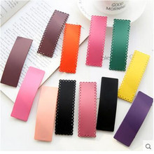 Hot Sale Fresh Color Cute Gilrs Bobby Pin Women Girls Plastic Hair Barrettes Spring Style Korea Hairpin Hairband Party Gift