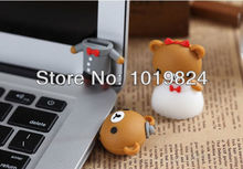100% real capacity Wedding teddy bear USB Flash Drives 2.0 2G 4G 8G16G thumb pen drives memory stick ,pendriveping S255(China)