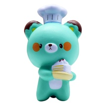 1 Piece 14cm jumbo  Panda Cell Phone Strap Chef Pastry Bear Slow rising Squishy Bread Toy Cartoon Cake Bun With Smell M1