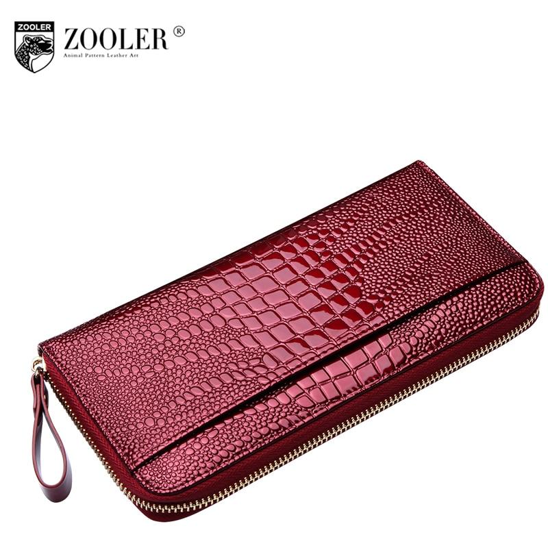 2018 ZOOLER woman genuine leather wallets  coin purse hot skin/cowhide designed pattern card holder zipper wallet luxury#8903<br>