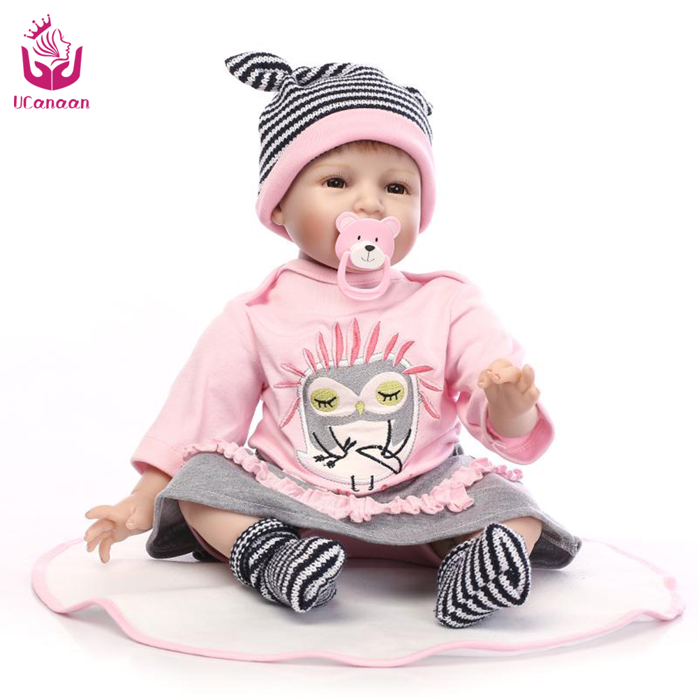 UCanaan 50-55cm Safety Cloth Body Silicone Reborn Doll Toys The Best Christmas&amp;Birthday Gift For Your Babies or Collection <br><br>Aliexpress