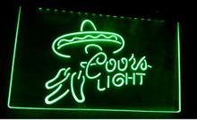 b-277 Coors light beer bar pub club 3d signs LED Neon Light Sign home decor shop crafts
