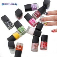 Nail Stamping Polish Nail Lacquer Polish Colorful Lacquer Varnish For Stamping Plate Paint Polish 8ml(China)