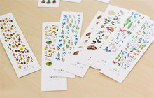New 30 Sheets/pack The Collection of Nature Bookmark Paper Cartoon Animals Bookmark Promotional Gift Stationery Film Bookmark