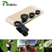 Universal Fisheye Lens 3 in 1 Mobile Phone Clip Lens Fish Eye Wide Angle Macro Camera Lens for iPhone 7 6s Plus 5 Xiaomi Huawei