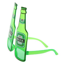 New Hot Hawaiian Summer Beach Novelty Sunglasses Beer Bottle Glasses Goggles for Hen Night Stag Fancy Dress Costume Party Green(China)