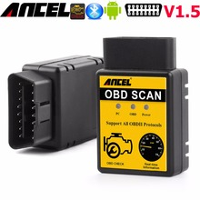 Ancel ELM327 V1.5 Bluetooth OBD2 OBD EOBD CAN Auto Scanner OBDII for Android Bluetooth ELM327 Car Fault Code Reader 25K80 Chip