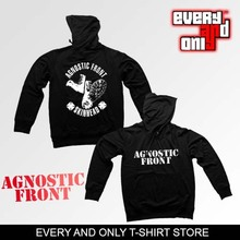 Agnostic Front Band IronCrosssmal 500g fleece sweatshirt hoodie black 2 style
