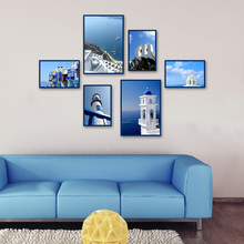 Canvas poster wall A4 Art Prints Poster Wall art Pictures Painting No Frame Exquisite Photo wall and Mediterranean Sea scenery