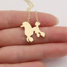 1pcs Dainty Poodle Necklace Pendant Puppy Heart Dog Lover Pet Necklaces & Pendants Women Animal Charms Christmas Gift Lead Free