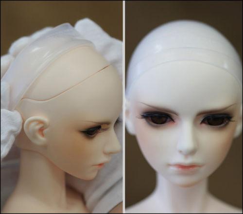 3-10inch Silicon Hair Wig Cap for 1//3 1//4 1//6 1//8 1//12 Doll Head CoveIJUS