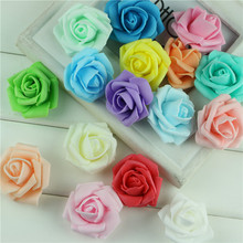 4cm small artificial foam rose flower 100pcs/lot multi color heads kissing ball home party banquet wedding decoration handmade