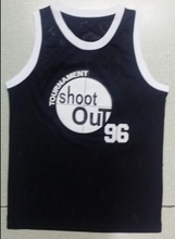 Shoot Out Basketball Jersey Number 96 Color Black Good Quality Basketball Jersey
