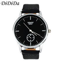 1PCS Classic Men Quartz Wristwatches Electronic Analog Leather Band Strip Wrist Watch Free Shipping wholesale relogio hombre J17