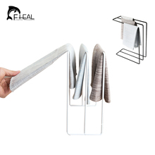 FHEAL Vertical Iron Towel Rack Kitchen Countertop Dishwashing Cloth Storage Rack Drain Drying Shelves Kitchen Accessories(China)