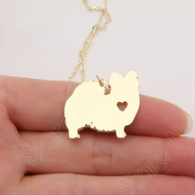 1pcs Papillon Necklace Pendant Puppy Heart Dog Rescue Lover Pet Necklaces & Pendants Women Animal Charm Christmas Gift Lead Free(China)