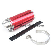 RED PIT BIKE EXHAUST MUFFLER  FOR XR CRF 50 BBR KLX 110 KTM