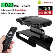 Smart Android TV Box Camera Microphone Skype AllWinner H3 Quad Core HD23 Mini PC Wifi HDMI Media Player VS T95 X96 Set Top Box
