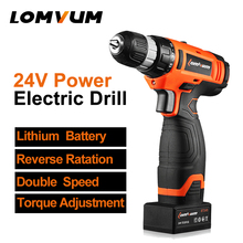 12V mini drill electric drill screwdriver 24v power tools cordless drill lithium rechargeable battery screw rotary tool LOMVUM