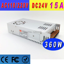 High Quality dc24v voltage 360W switching power supply 15A For Strip light Display AC110V/220V Input dc Output Lamp 5 pcs/lot