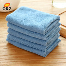 ORZ 5PCS/Lot Absorbent Microfiber Towel Kitchen Cleaner Wipping Rags Cleaning Cloth Bath Dust Face Hair Hand Dryer Towel(China)