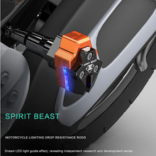 Falling Protectors Motorcycle CNC Aluminum Alloy Frame Slider Anti Crash engine protection Moto Pad Protect Includes LED lights(China)