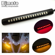 Universal Motorcycle Tail Brake Stop Turn Signal Integrated 3258 Pasted LED Light Strip For Yamaha fz6 r6 r1(China)