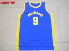 LANSHITINA New Degrassi Basketball Jersey Number 9 Color Blue No Name Good Quality Basketball Jersey For Free Shipping Shirt