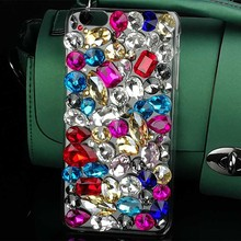Fashion Colors Crystal Cover Bling Cell Phone Case for Iphone 7 7 Plus 6 6s Plus 5 5s 4 4s Diamond Rhinestone Mobile Phone Cases