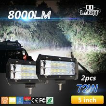 CO LIGHT 5'' 72W 144W Led Bar Spot Beam 12V 24V IP68 for 4x4 Offroad Auto ATV SUV KAMAZ GAZ UAZ Truck 4x4 Spotlight for Boats(China)