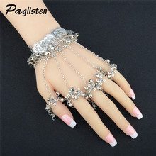 PAGlisten New original Bohemian antique silver coin bell tassel bracelet Chain refers to one bracelets