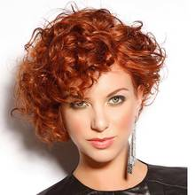 "Synthetic Wigs 13""  Wig Natural Cheap Hair Wig   Heat Resistant Short Curly Wigs For Black Women Free Shipping"