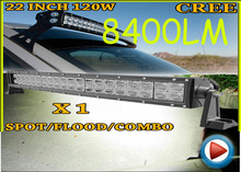 Free UPS ship!1pcs/set,22inch 120W 8400LM Curved,10~30V,6500K,LED working bar,Boat,Bridge,Truck,SUV Offroad car,black,72W