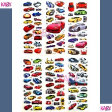 6 Sheets Racing Super Sports Car Scrapbooking Luggage Laptop Bubble Stickers Emoji Reward Kid Children Toys Factory Direct Sales