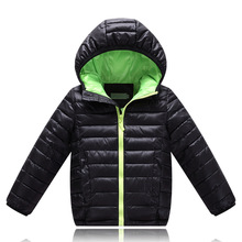 Baby Boys Jackets For Boys Girls Winter White Duck Down Coats Kids Hooded Parkas Sport Children Coat black blue red(China)