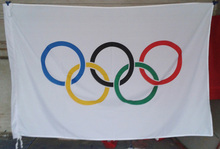 2017 Hot Sell Olympic Games banner FLAG 3 x5ft Olympics Flag 150x90cm High quality(China)