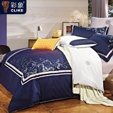 2015 Promotion Luxury Tribute Silk Duvet Cover Queen King Cotton 4PCS bedding set Americansilkcover bed linen pillowcase