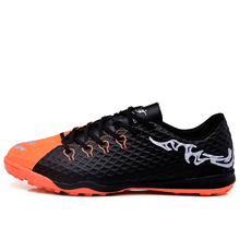 MAULTBY Men's Orange / Black TF Turf Sole Outdoor Cleats Football Boots Shoes Soccer Cleats #STF31704B(China)