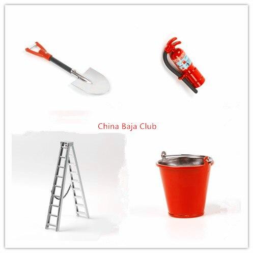alloy decoration, shovel, bucket, miter ladder, fire extinguisher for TRAXXAS TRX4 SCX10 90046 90027 rc4wd D90 D110 crawler car <br>